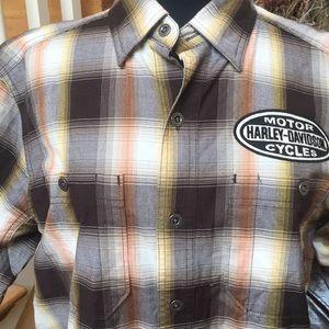 NWT Harley Davidson Plaid SS Shirt AM